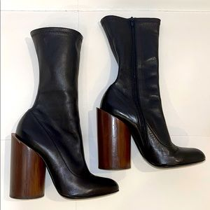 GIVENCHY Calf High Leather Boots Sz 40